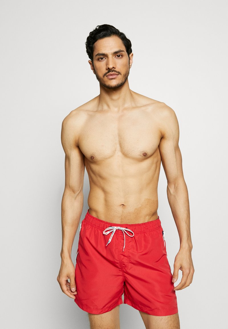 Jack & Jones - JJIARUBA SWIMSHORTS ZIP - Plavky - mars red