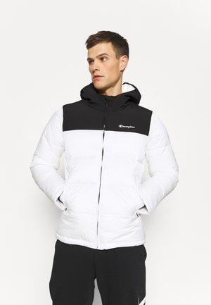 HOODED JACKET - Winterjas - white/black
