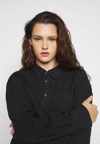Cotton On Curve - CURVE LONGLINE  - Button-down blouse - washed black - 3