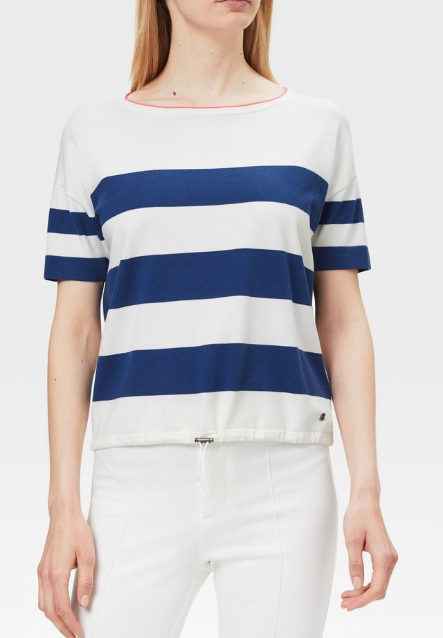 MIO - T-shirt imprimé - off-white/blau