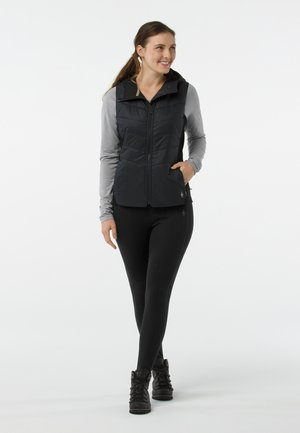 SMARTLOFT 60 HOODIE - Waistcoat - black