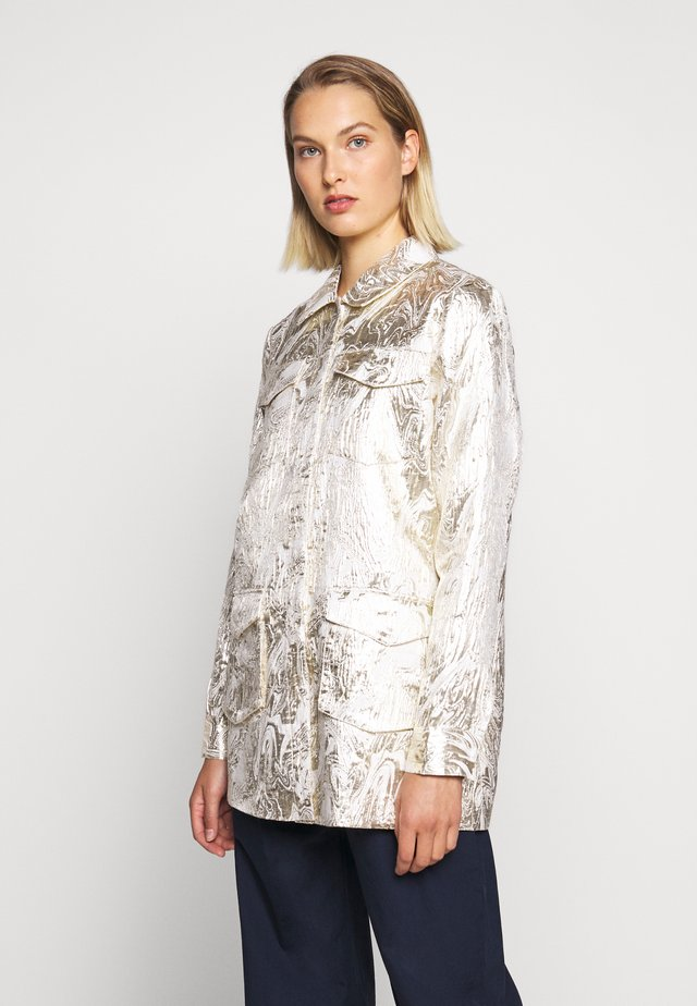 LUNAS JACKET - Short coat - white/gold