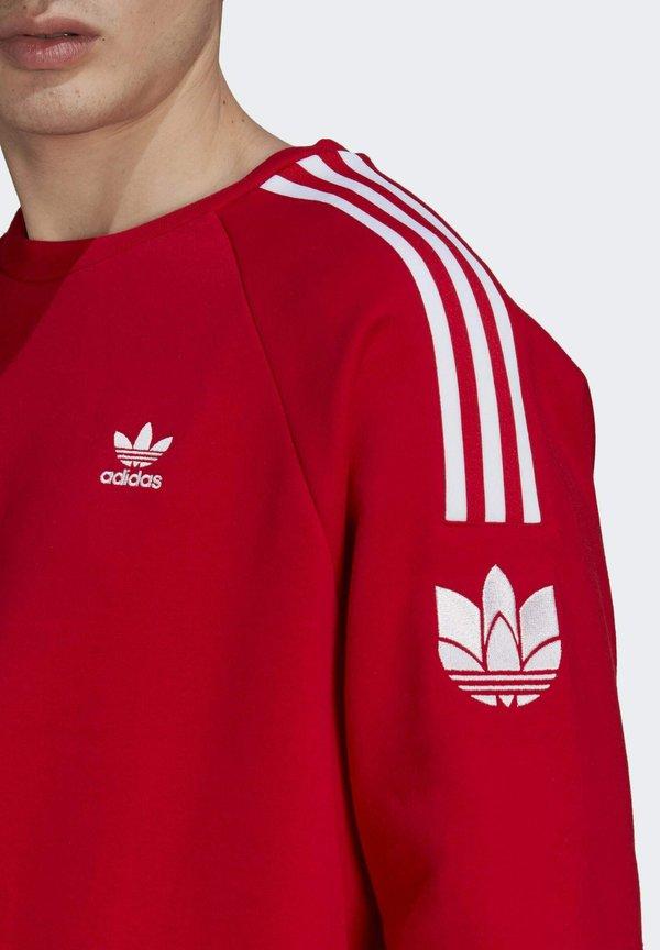 adidas Originals ADICOLOR 3D TREFOIL 3-STRIPES - Bluza - red/czerwony Odzież Męska MZCP