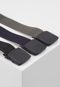 Pier One - 3 PACK UNISEX  - Riem - black/dark blue/grey - 1