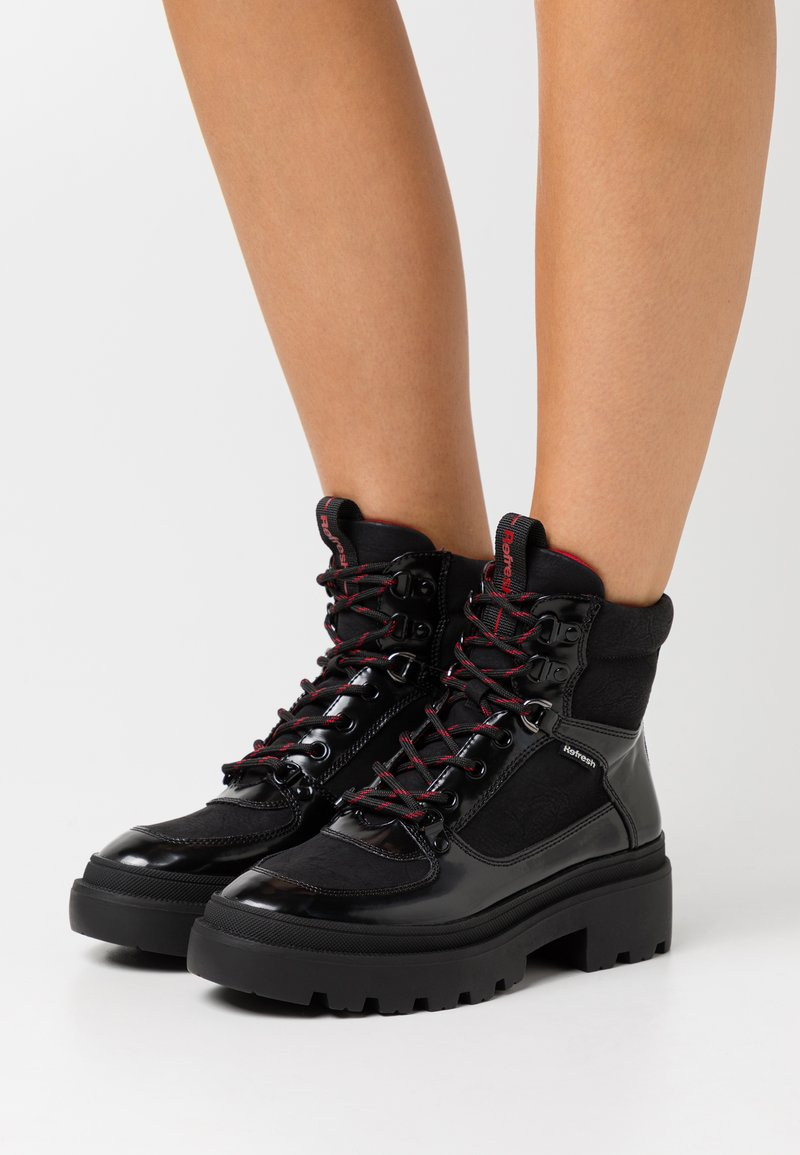 Refresh - Platform ankle boots - black