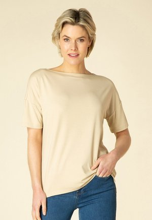 TISKA - T-shirt basic - sand