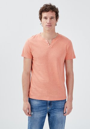 Basic T-shirt - rose poudrée