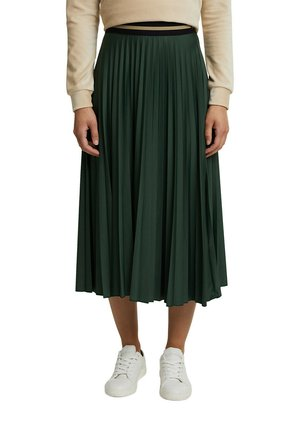 Pleated skirt - dark green