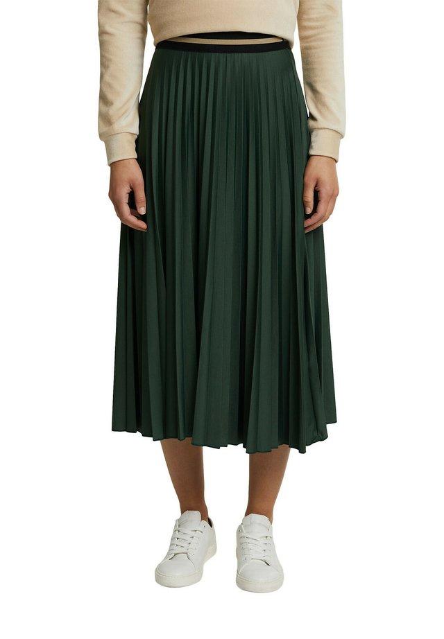 Jupe plissée - dark green