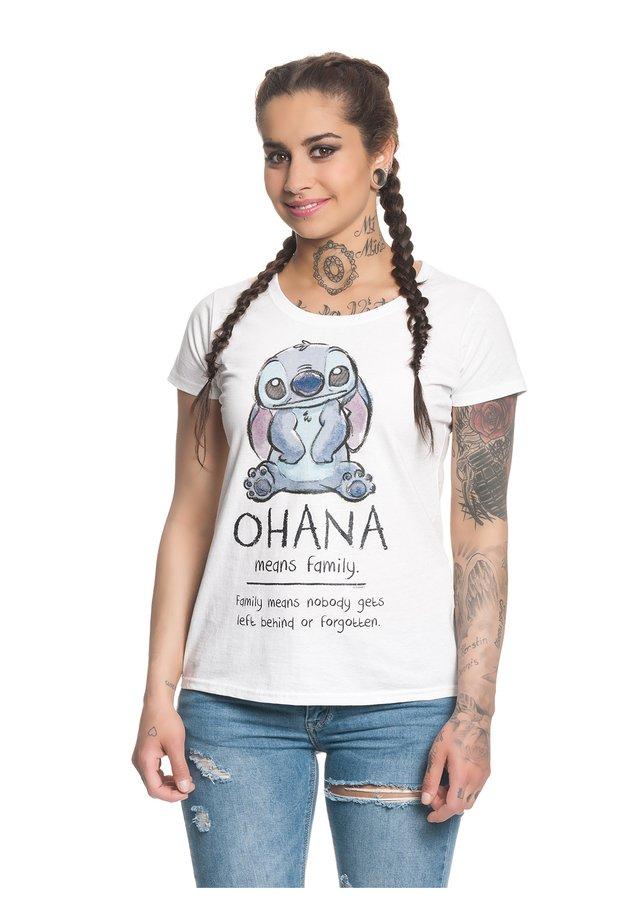 OHANA  - Print T-shirt - weiss