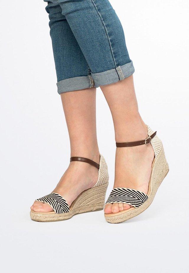 COMPENSÉES ETÉ - Wedge sandals - black, black