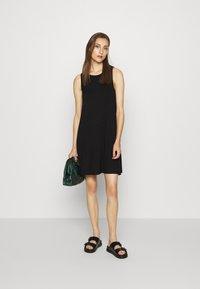 GAP - SWING DRESS - Jersey dress - true black - 1