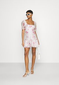 Forever New - HEATHER SQUARE NECK MINI DRESS - Day dress - rouge - 1