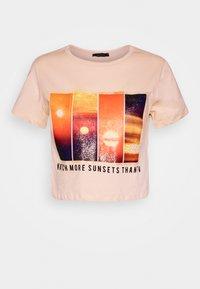 Trendyol - Print T-shirt - beige - 4