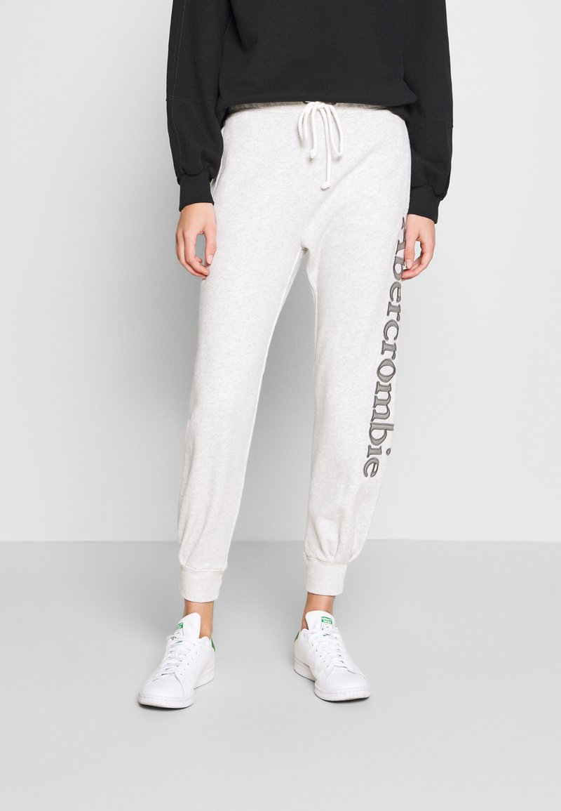 Abercrombie & Fitch - LOGO - Teplákové kalhoty - grey