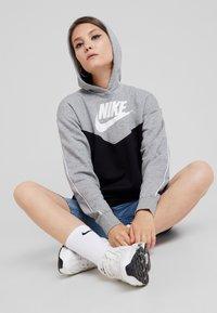 Nike Sportswear - HOODIE - Denní šaty - black/white - 1