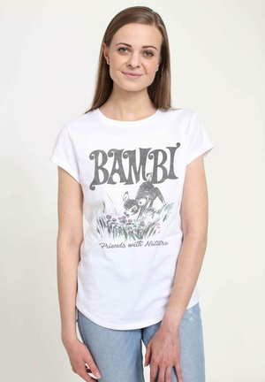 DISNEY CLASSICS BAMBI NATURE - T-shirt print - white