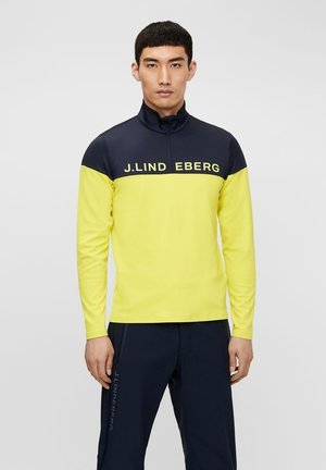 DAN MIDLAYER - Sweatshirt - leaf yellow