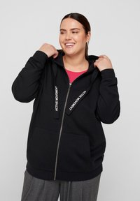 Active by Zizzi - Zip-up sweatshirt - black - 0