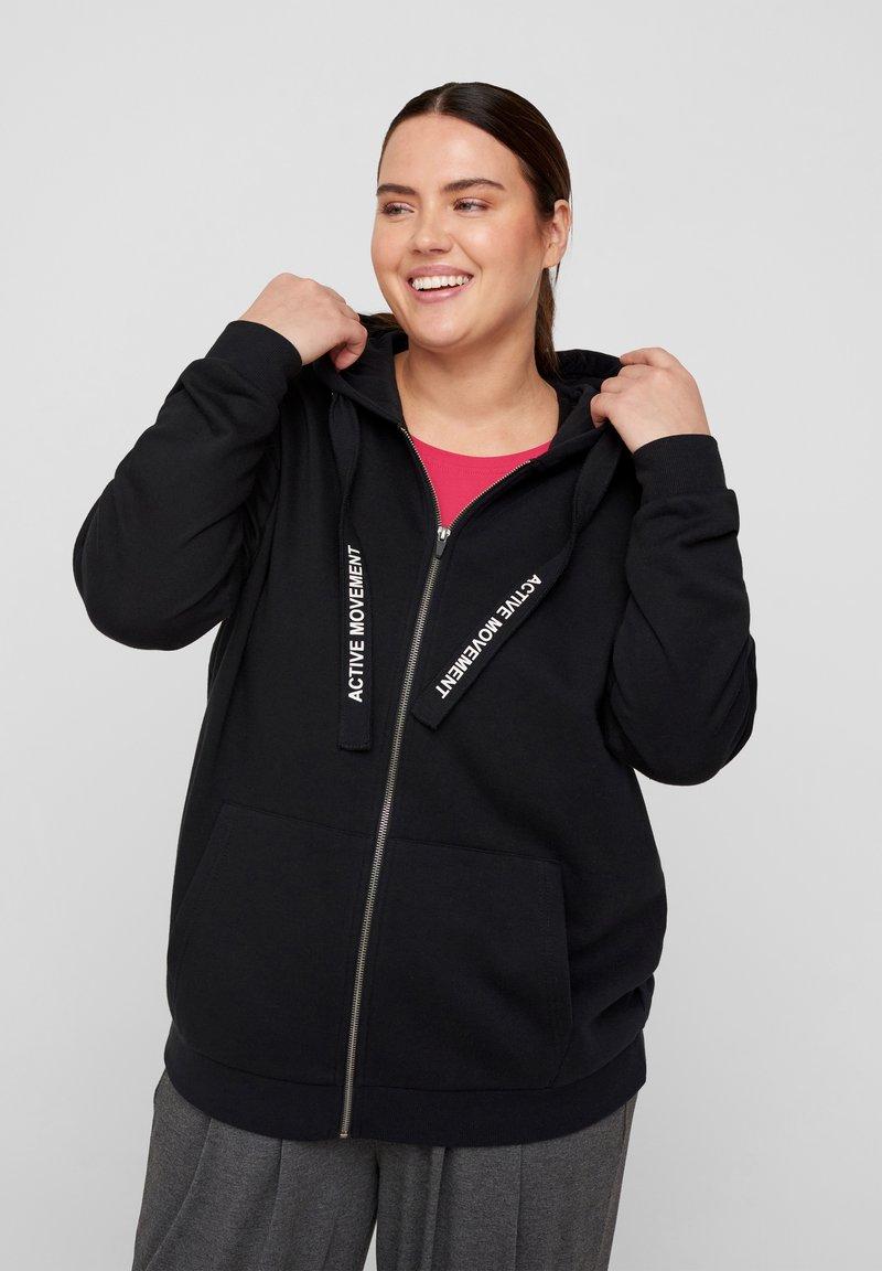 Active by Zizzi - Zip-up sweatshirt - black