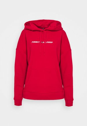 RELAXED GRAPHIC HOODIE - Sweat à capuche - red
