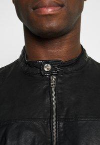 Goosecraft - GC ROSTOCK BIKER - Leather jacket - black - 4