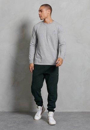 Long sleeved top - grey slub grindle