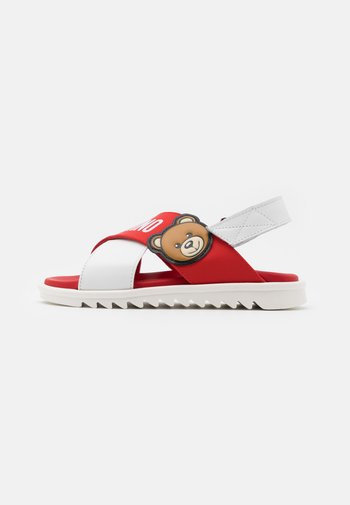 Sandals - white/red