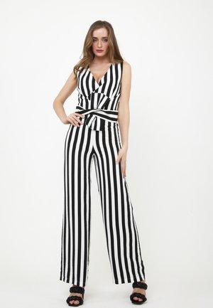 REBECCA - Jumpsuit - schwarz/weiß