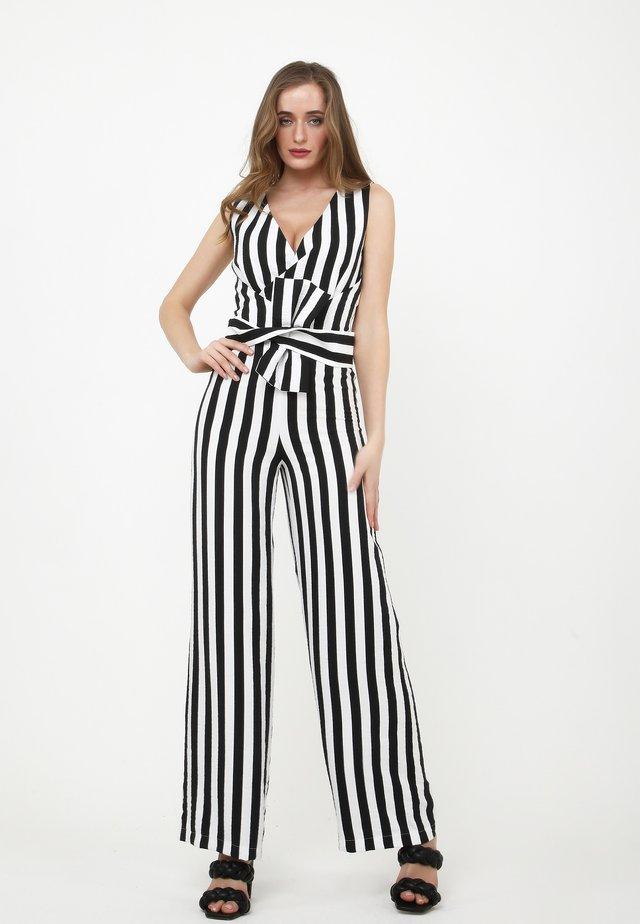 REBECCA - Tuta jumpsuit - schwarz/weiß