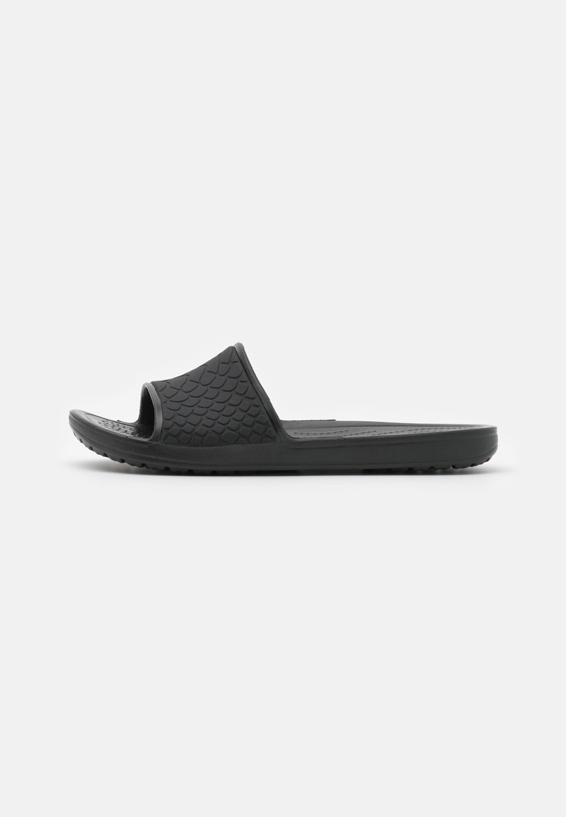 Crocs - SLOANE SNAKE LOW SLIDE  - Sandaler - black