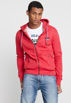 ORANGE LABEL CALI - Zip-up hoodie - red feeder