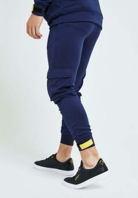 Illusive London Juniors - Cargo trousers - navy gold & yellow - 4