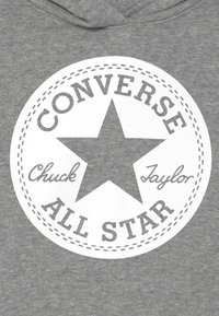 Converse - CHUCK PATCH CROPPED HOODIE - Mikina s kapucí - grey heather - 2