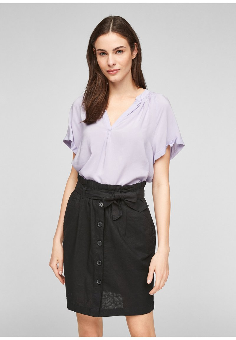 Q/S designed by - A-line skirt - black