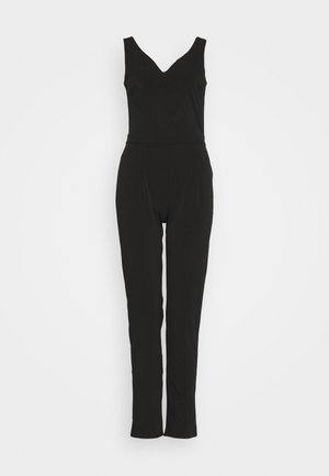 OCCASION - SLEEVELESS DEEP V JUMPSUIT - Haalari - black