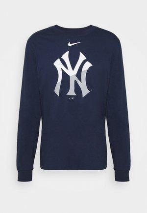 MLB NEW YORK YANKEES ANGLE LOGO LONG SLEEVE - Pelipaita - midnight navy
