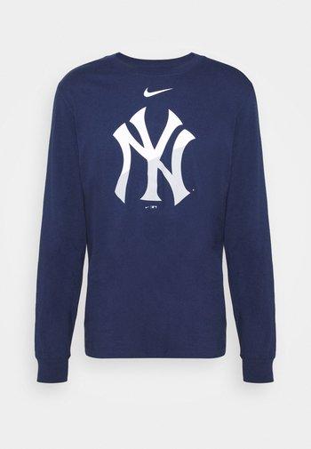 MLB NEW YORK YANKEES ANGLE LOGO LONG SLEEVE - Club wear - midnight navy