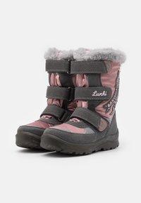 Lurchi - KATINKA SYMPATEX - Winter boots - grey/dark pink - 1