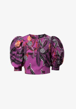 DESIGNED BY M. CHRISTIAN LACROIX: - Blouse - purple
