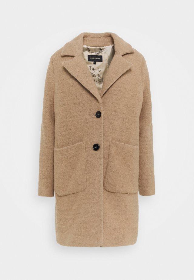 COAT - Classic coat - soft caramel