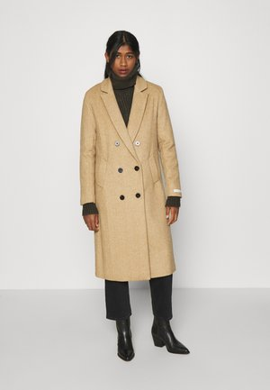 TAILORED DOUBLE BREASTED COAT - Classic coat - sand melange