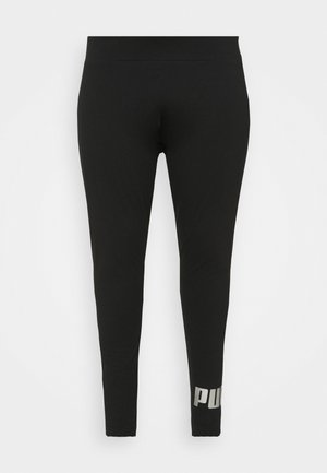 ESS+ METALLIC LEGGINGS PLUS SIZE - Leggings - black/silver