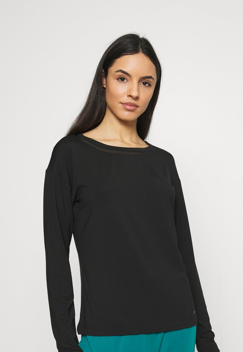 Calvin Klein Underwear - PERFECTLY FIT FLEX WIDE NECK - Pyjama top - black
