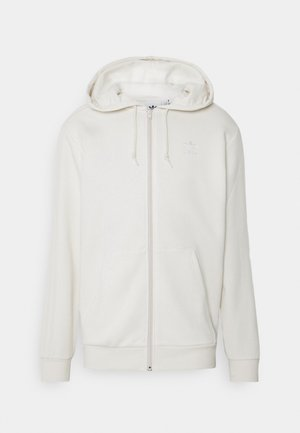 Zip-up sweatshirt - non-dyed