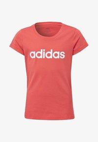 adidas Performance - ESSENTIALS LINEAR T-SHIRT - T-shirt imprimé - pink - 0