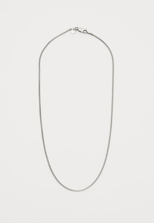 CLASSIC BOX CHAIN NECKLACE  - Collana - gunmetal/silver