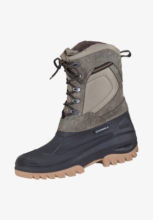 Winter boots - schwarz/beige