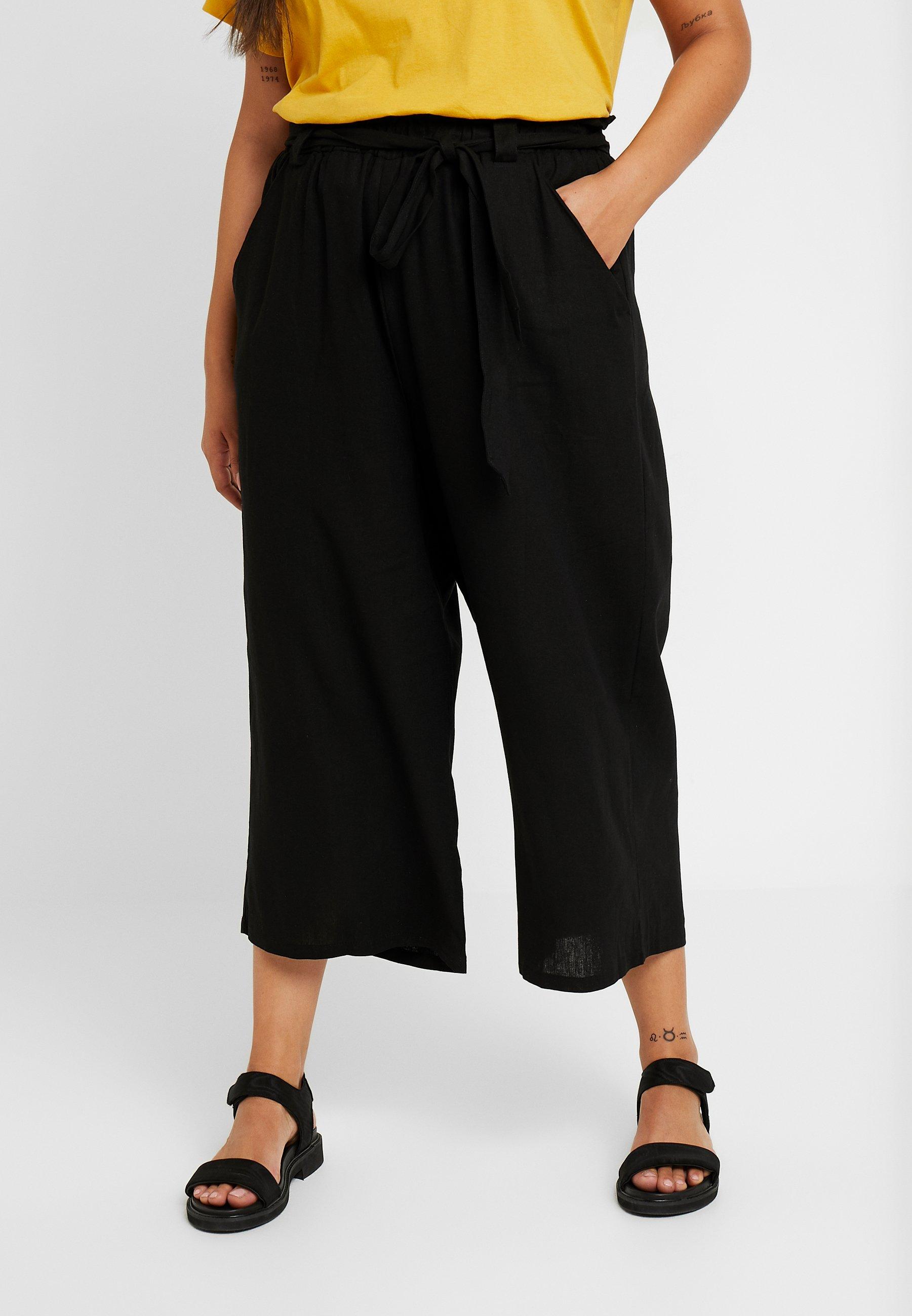 PAPER BAG CULOTTE Bukse black