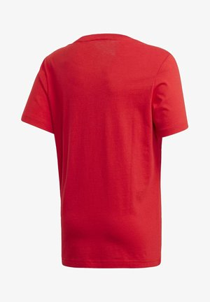 ESSENTIALS LINEAR LOGO T-SHIRT - Camiseta estampada - red